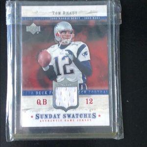 Tom Brady rookie jersey card